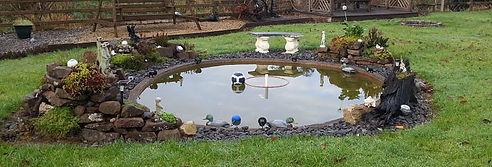 Garden pond-fish pond