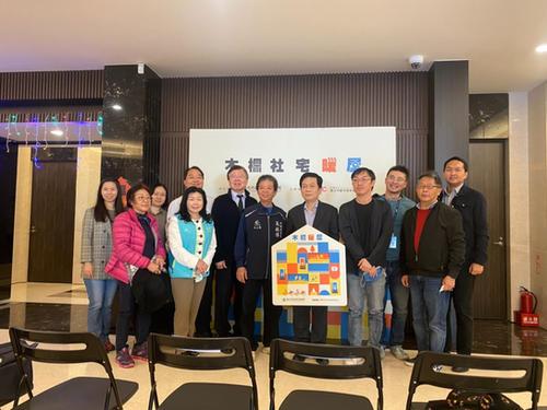 本所與會木柵社宅暖屋活動並與台北市都市發展局、當地里民共襄盛舉