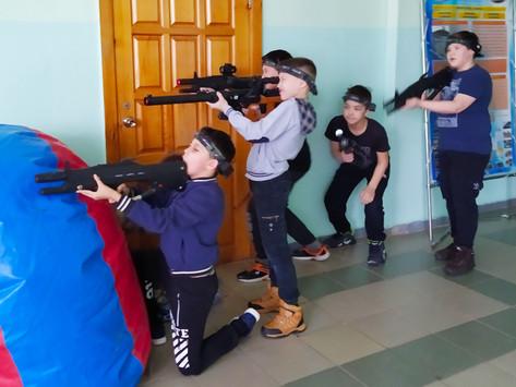 Военно патриотическое воспитание в школе в форме командно-тактической игры Лазертаг