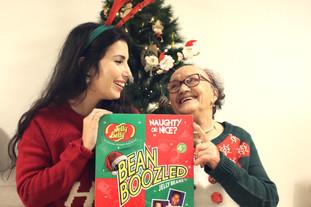 Provei snacks de Natal com a minha avó