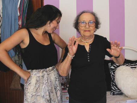 Dancei uma playlist funk com a minha avó
