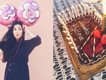 Foi assim que passei o meu aniversário
