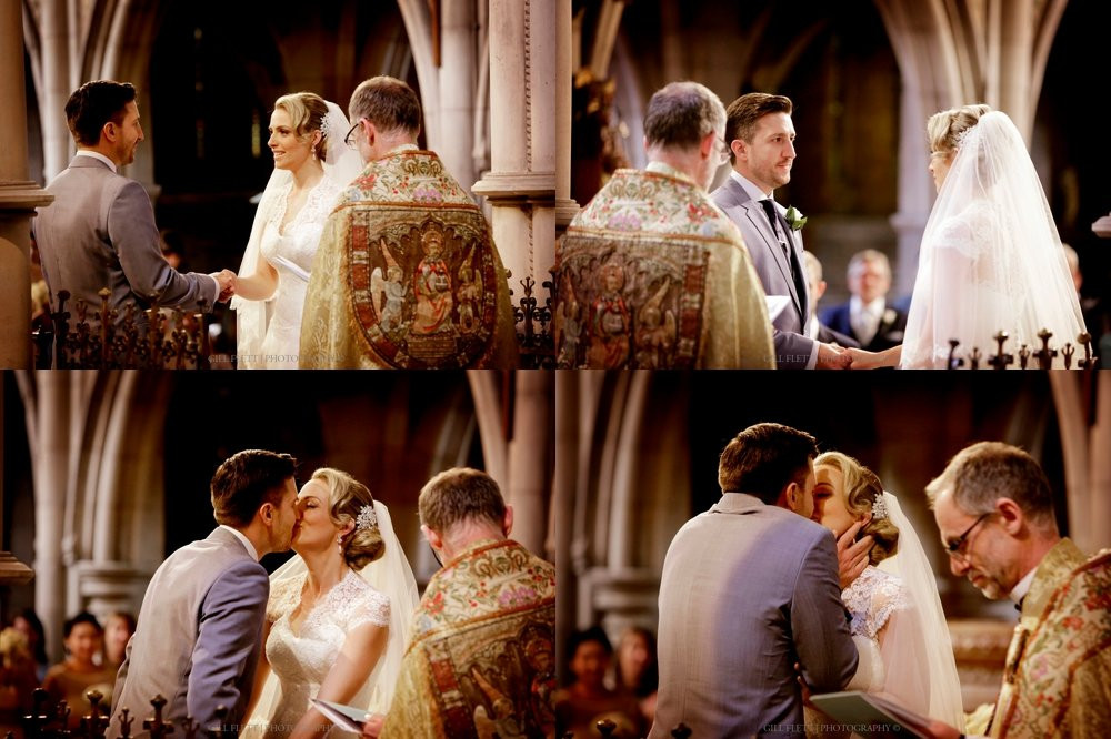 The vows and first kiss!