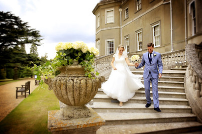 bride-and-groom-coming-down-stairs-londo