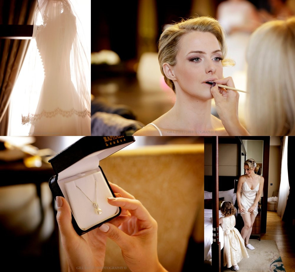 bride getting ready at St. Pancras Renaissance Hotel London