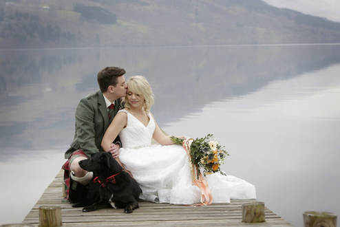 scottish-highland-wedding-bride-groom-dog-with