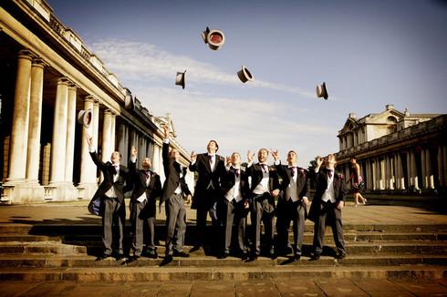 throwing-top-hats-greenwich-london-weddi