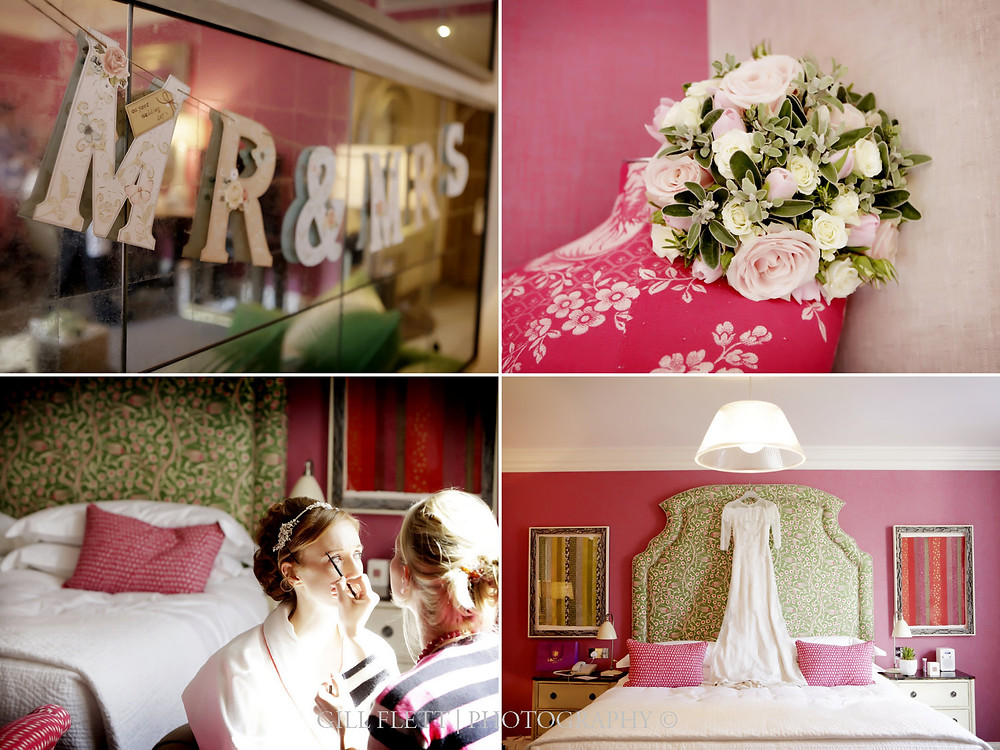 Individually desinged Bridal Suite on the morning of a wedding