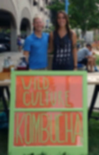 Wild Culture Kombucha Owners Tim Roed Rachelle Schmidt Iowa City Farmers Market