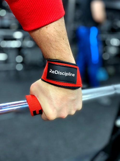 Pro Lifting Straps Weight lifting Powerlifting Straps Red