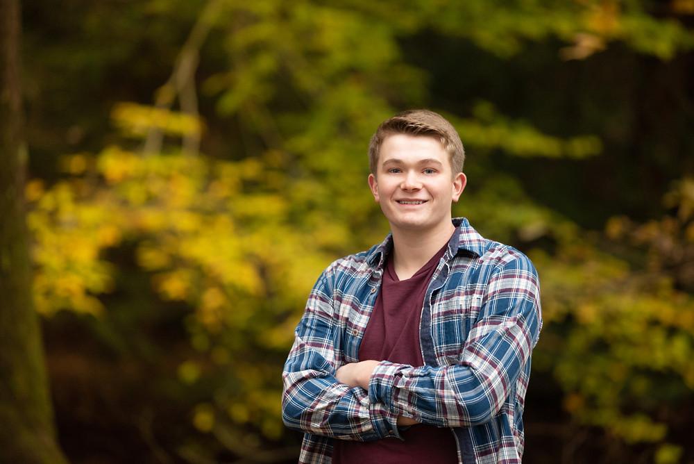 Country senior guy photoshoot in New Cumberland, WV