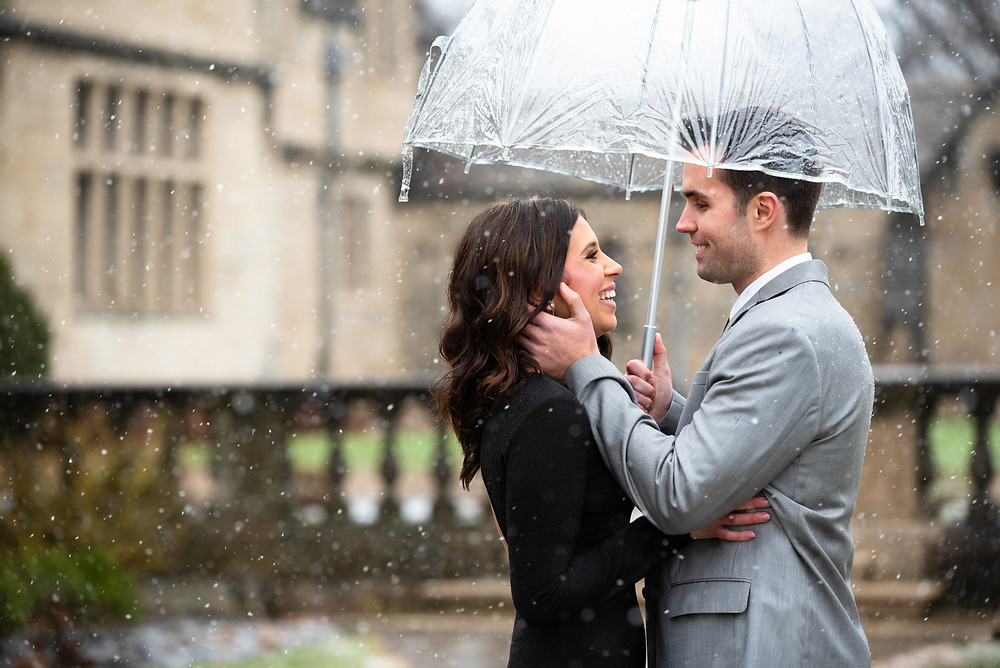 Pittsburgh engagement session in the snow at Hartwood Acres