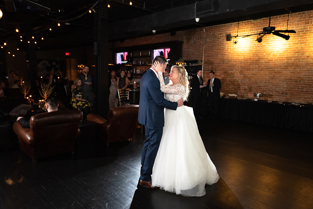 First dance as husband and wife at Olive or Twist in Pittsburgh