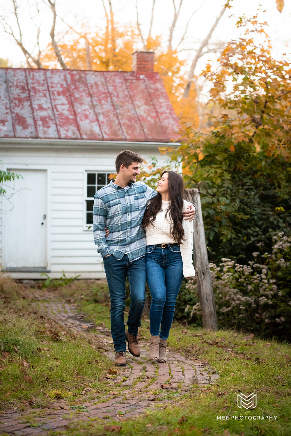 Engagement session at Bethany College in West Virginia