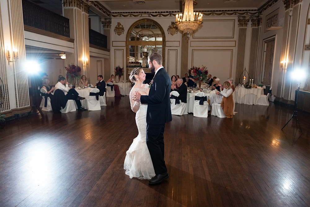 First dance as husband and wife at The George Washington Hotel