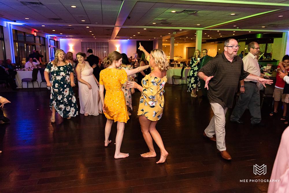 Wedding reception dancing at The lake Club