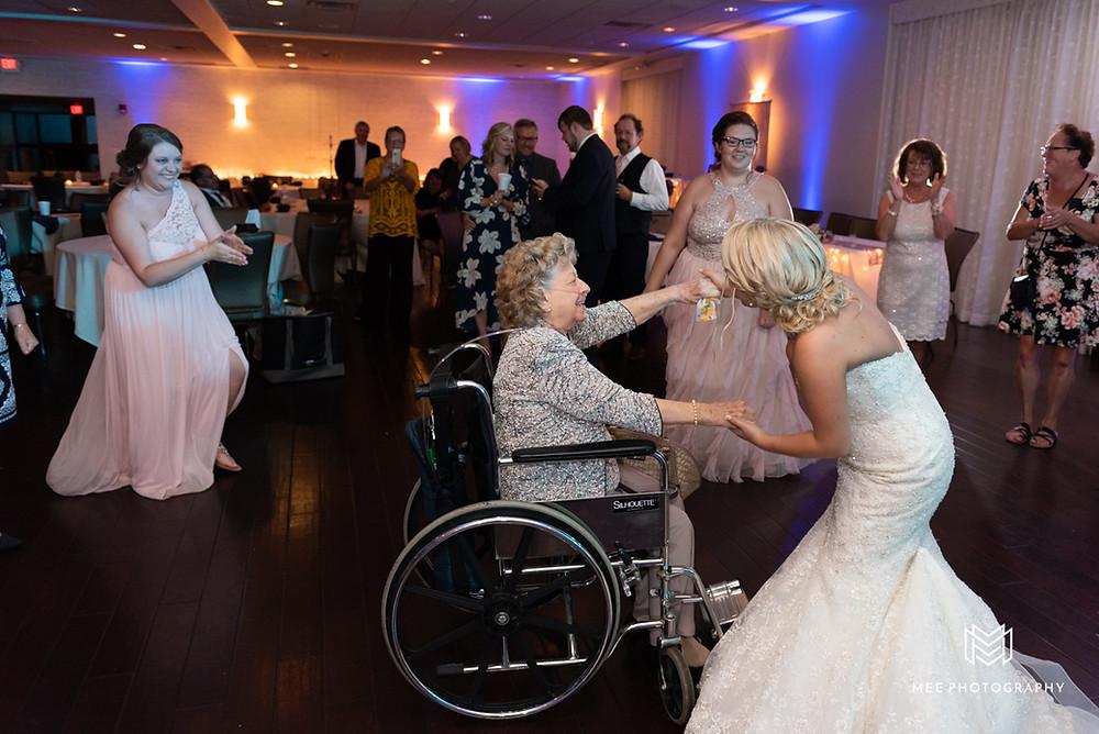 Bride dancing with her Grandma