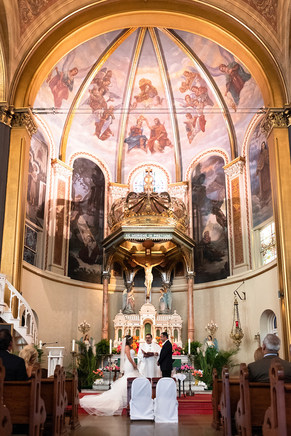 Beautiful cathedral wedding ceremony at St. Stanislaus Kostka in Pittsburgh