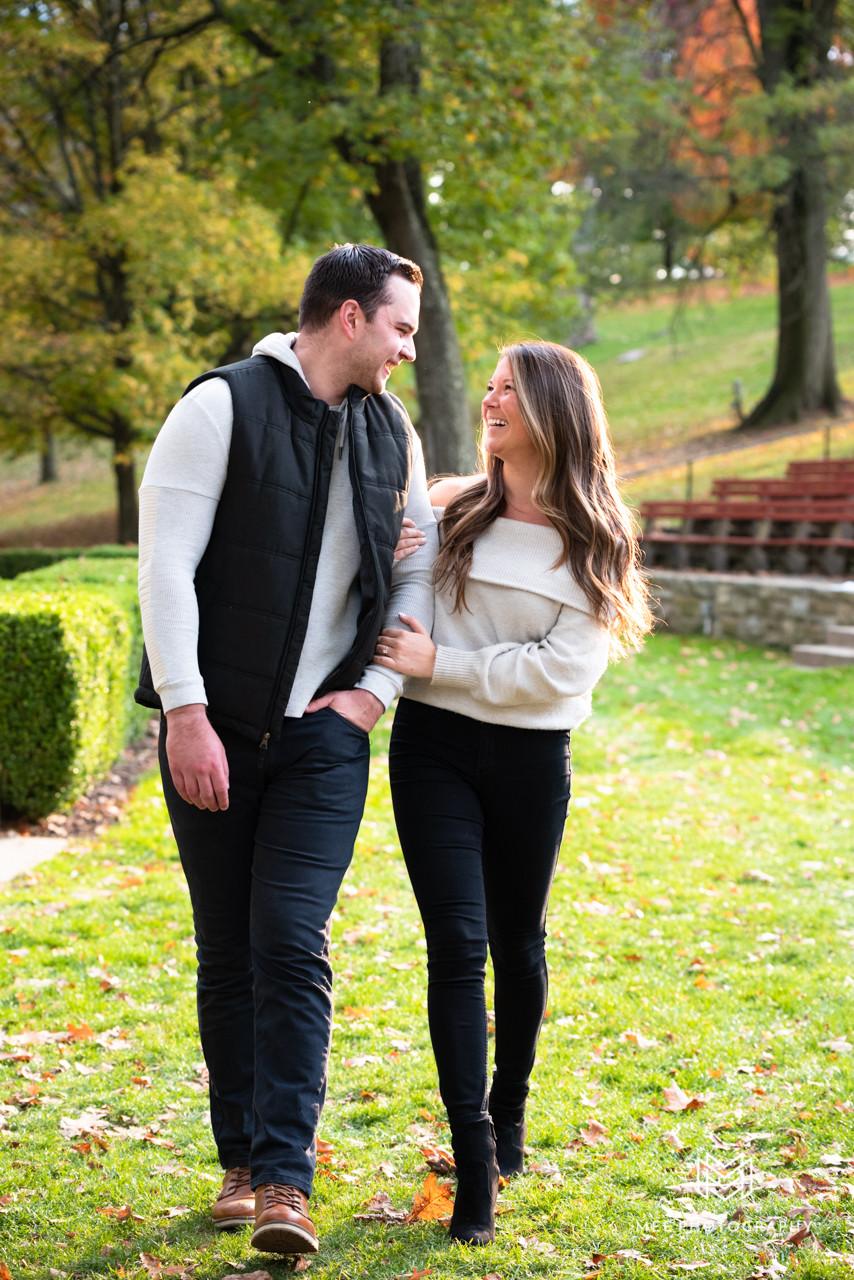 Fall engagement photos at Oglebay Park near Wheeling, West Virginia