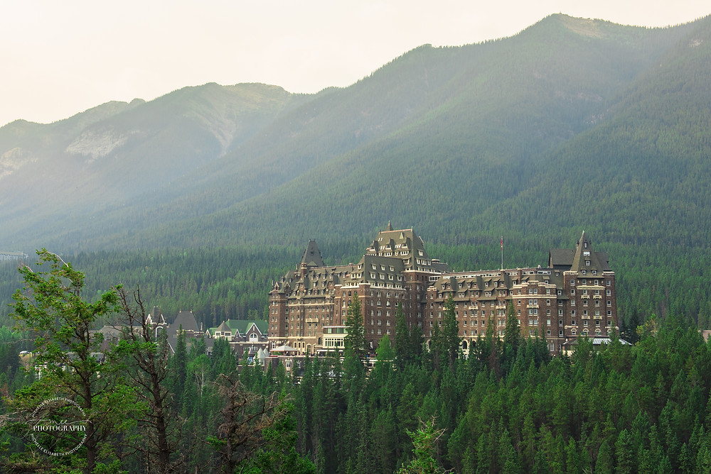 Fairmont Banff Springs Hotel in Banff National Park. This magnificent castle is surrounded by the beautiful mountains of Canada.
