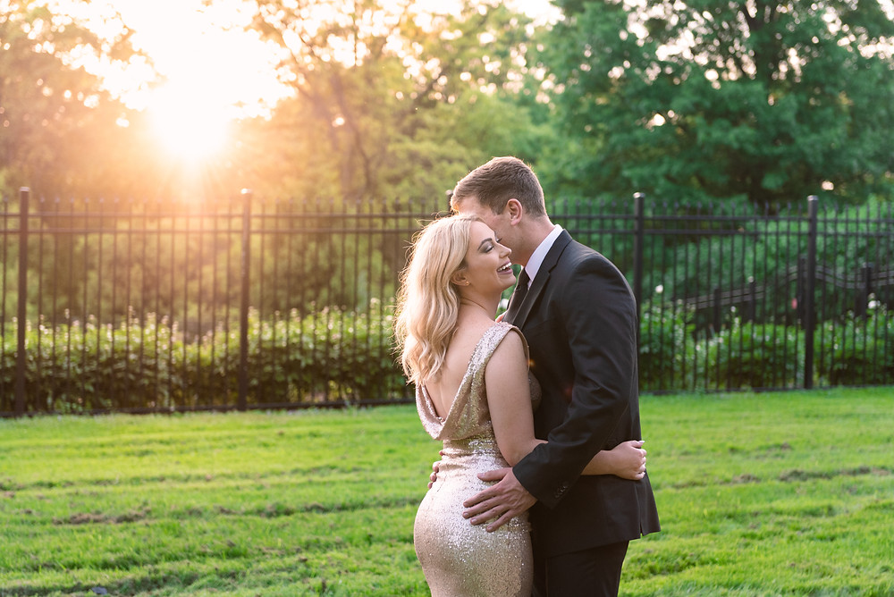 Golden Hour engagement session at Hartwood Acres in Pittsburgh