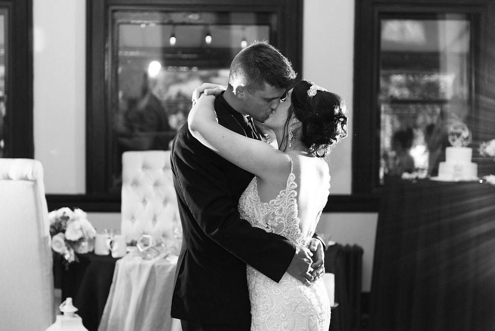First dance as husband and wife at the Beaver train station