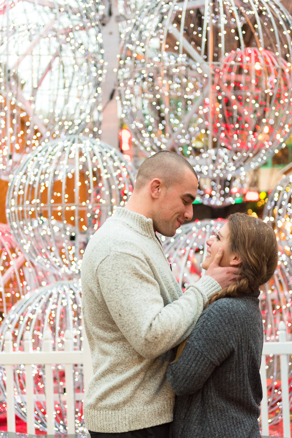 A Christmas engagement in Pittsburgh, PA.