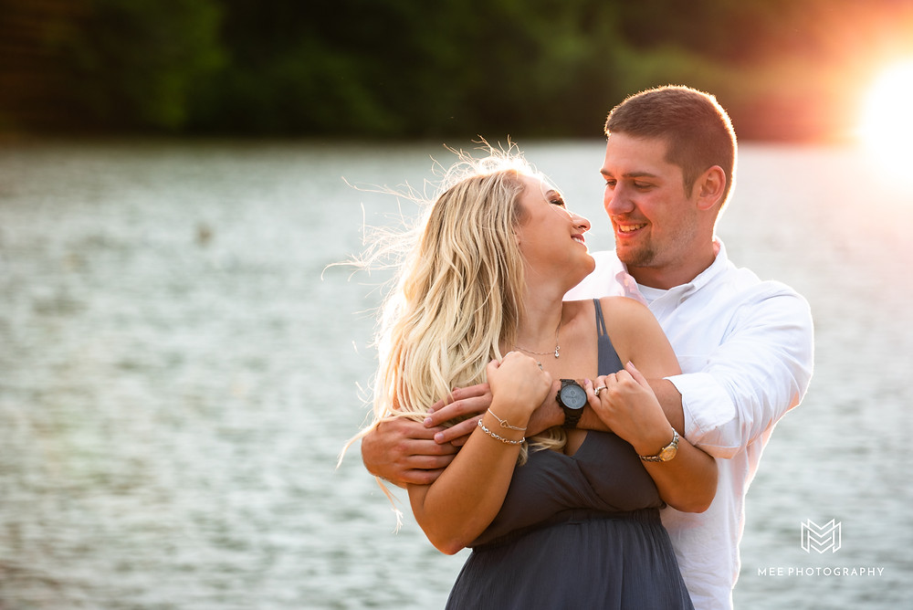 Sunset engagement session near Pittsburgh