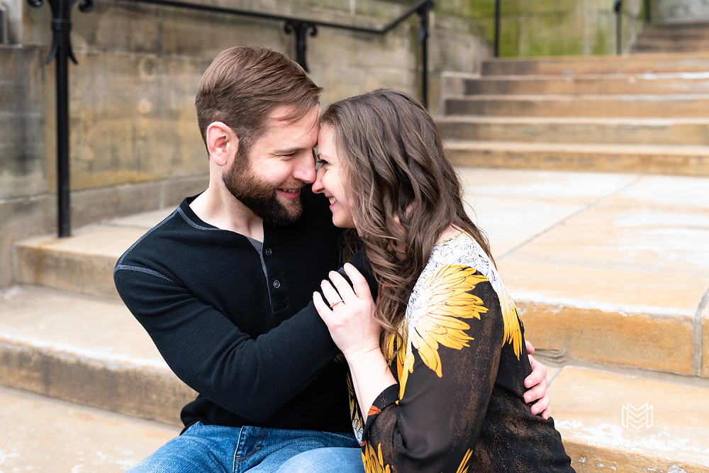 Downtown Pittsburgh city engagement session