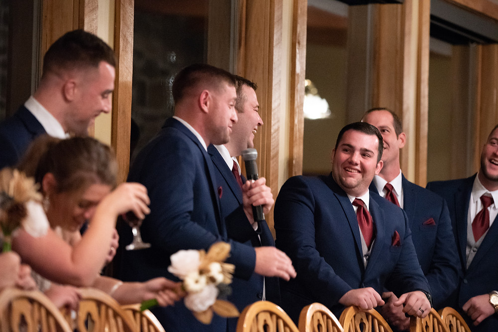 Best man giving a funny speech at Morningside Inn