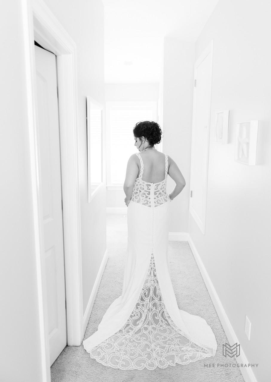 David's Bridal wedding dress shot
