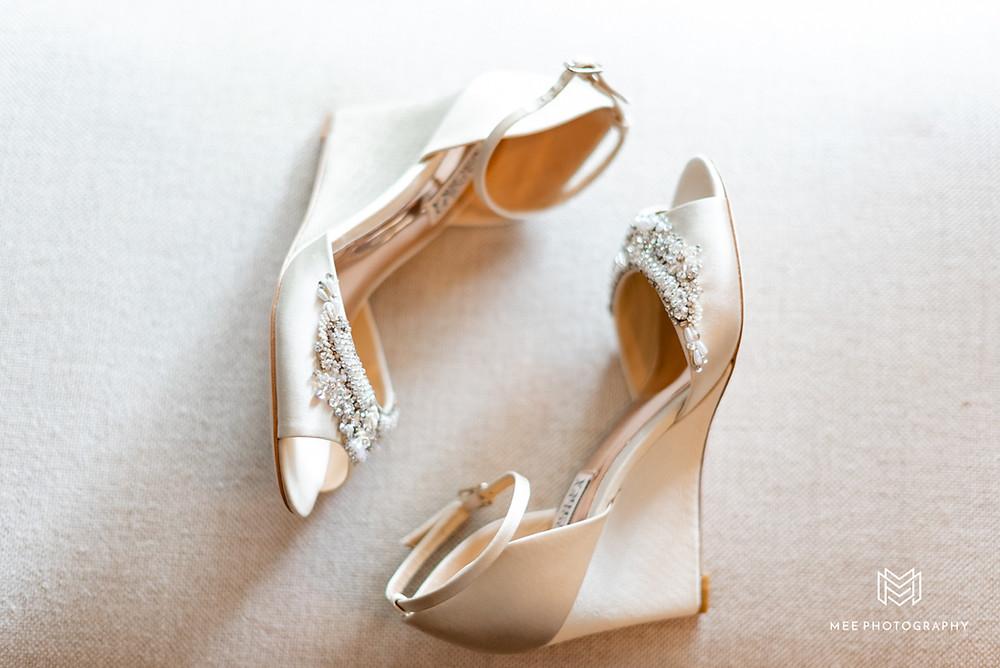 Badgley Mischka wedge heels