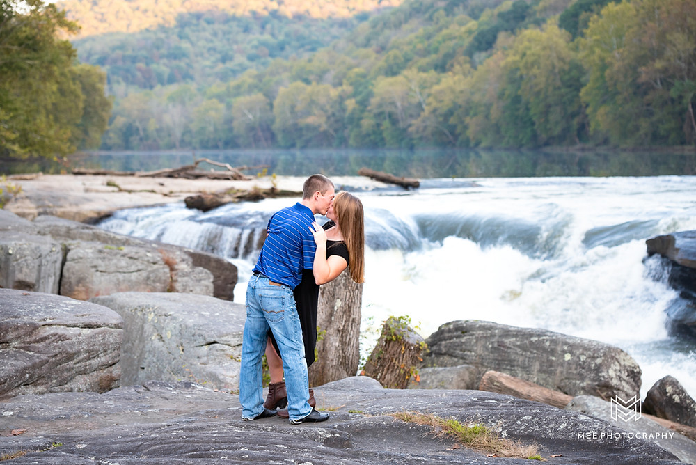 Valley Falls State Park engagement session in Fairmont, WV