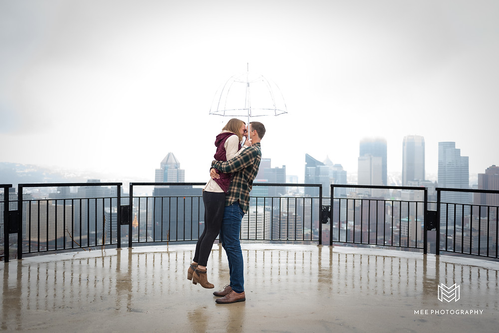 She said yes when her boyfriend proposed on the Mount Washington Overlook in Pittsburgh