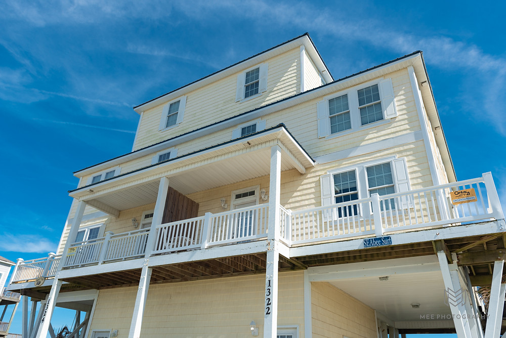North Topsail, North Carolina yellow beach house