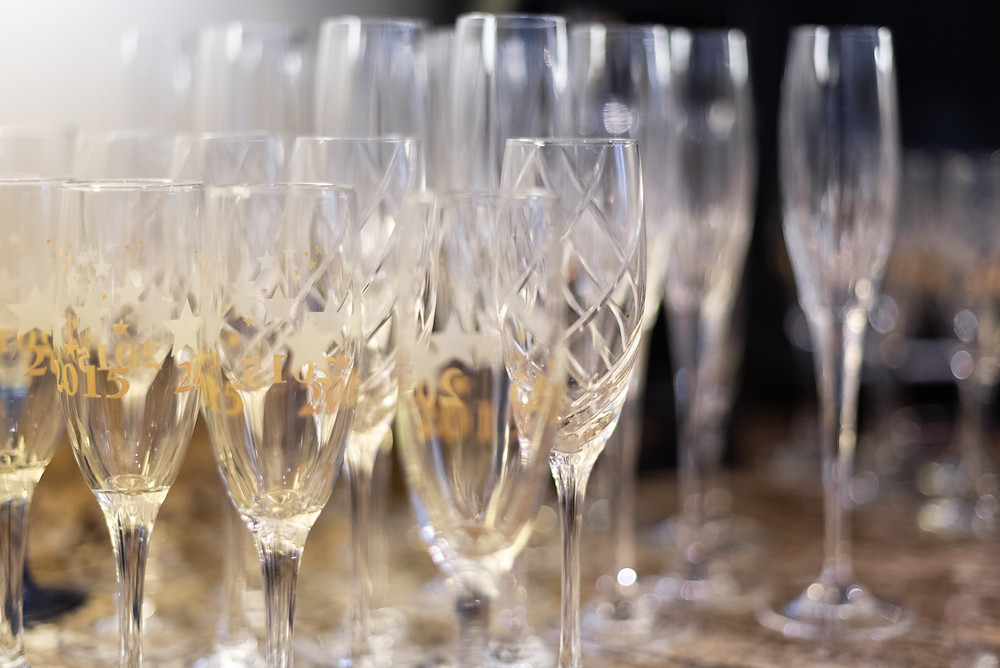 Champagne glasses for Miss Pennsylvania 2015's bridal shower