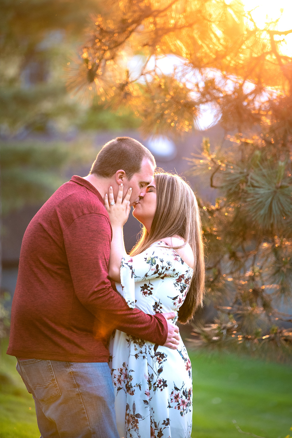 Pittsburgh sunset engagement session