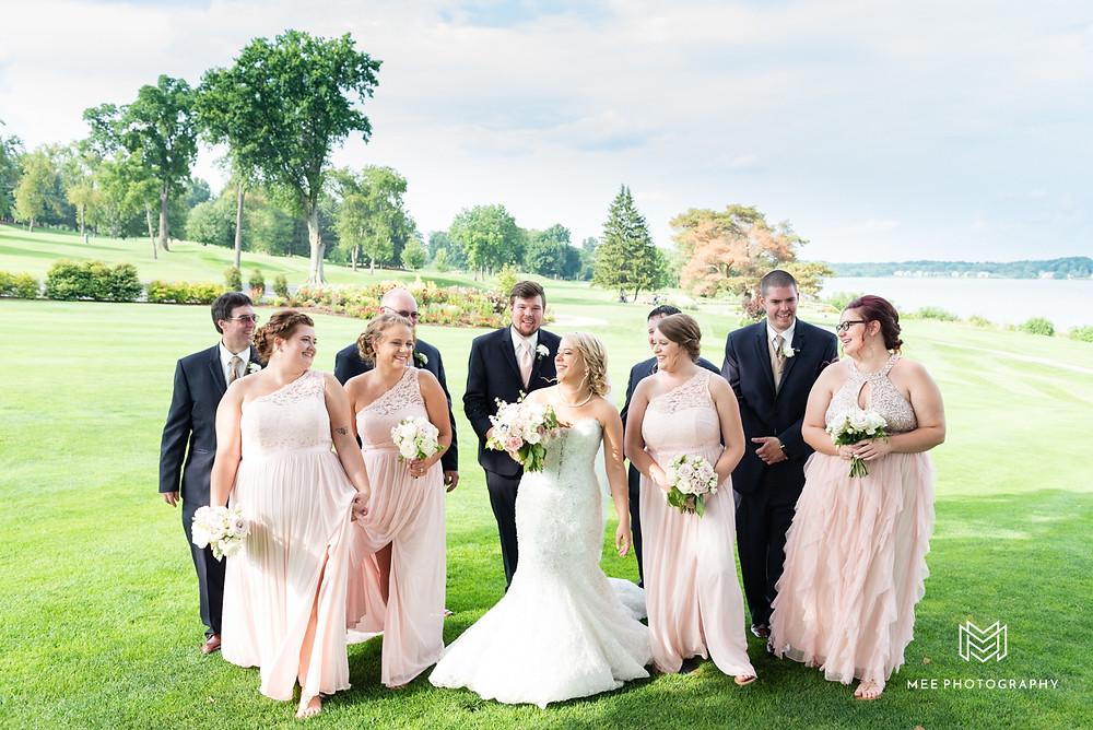 Bridal party at The Lake Club of Ohio