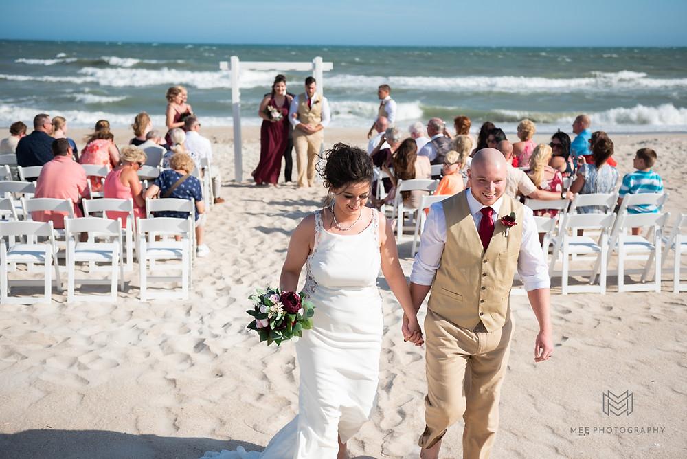North Topsail Island beach wedding