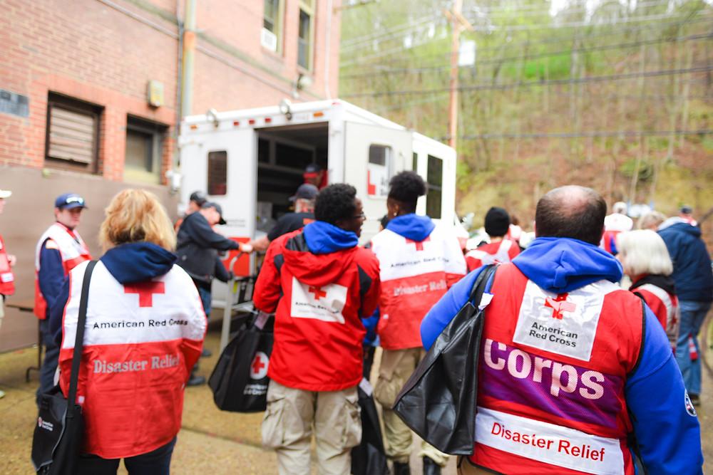 Red Cross Volunteers serving the community in western PA