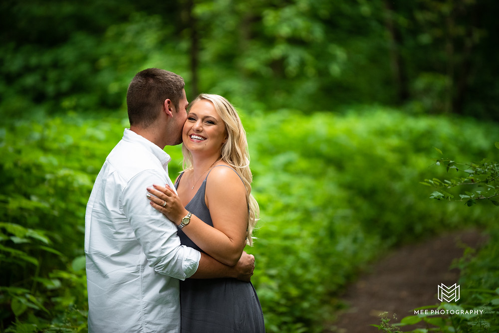 Country engagement session in the woods at Raccoon Creek State Park