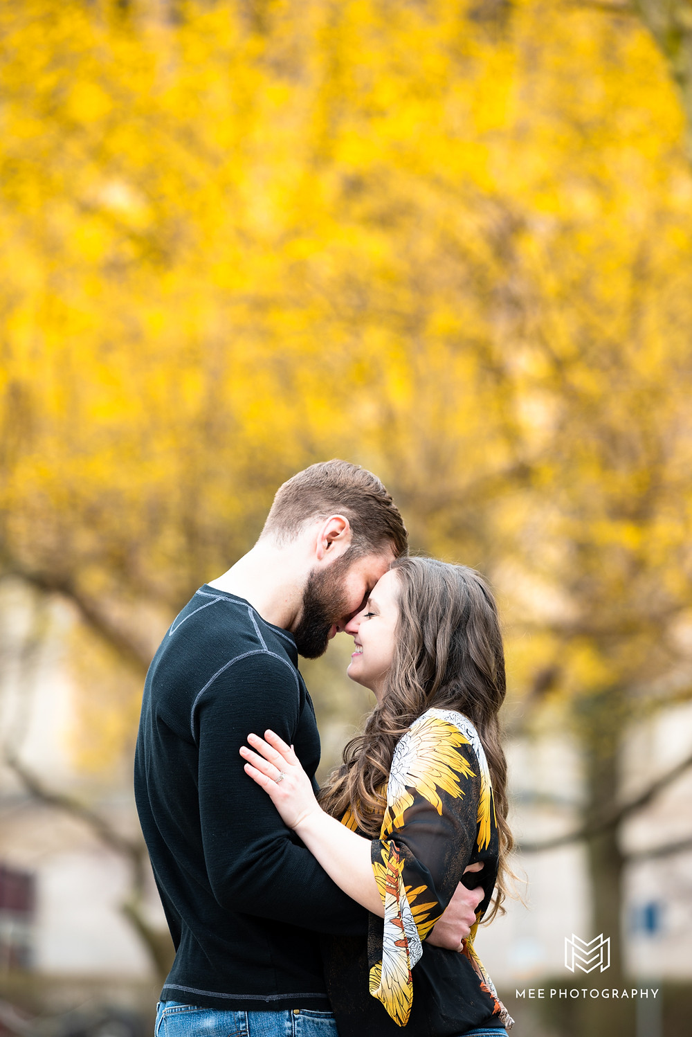 Spring engagement session in Oakland Pittsburgh