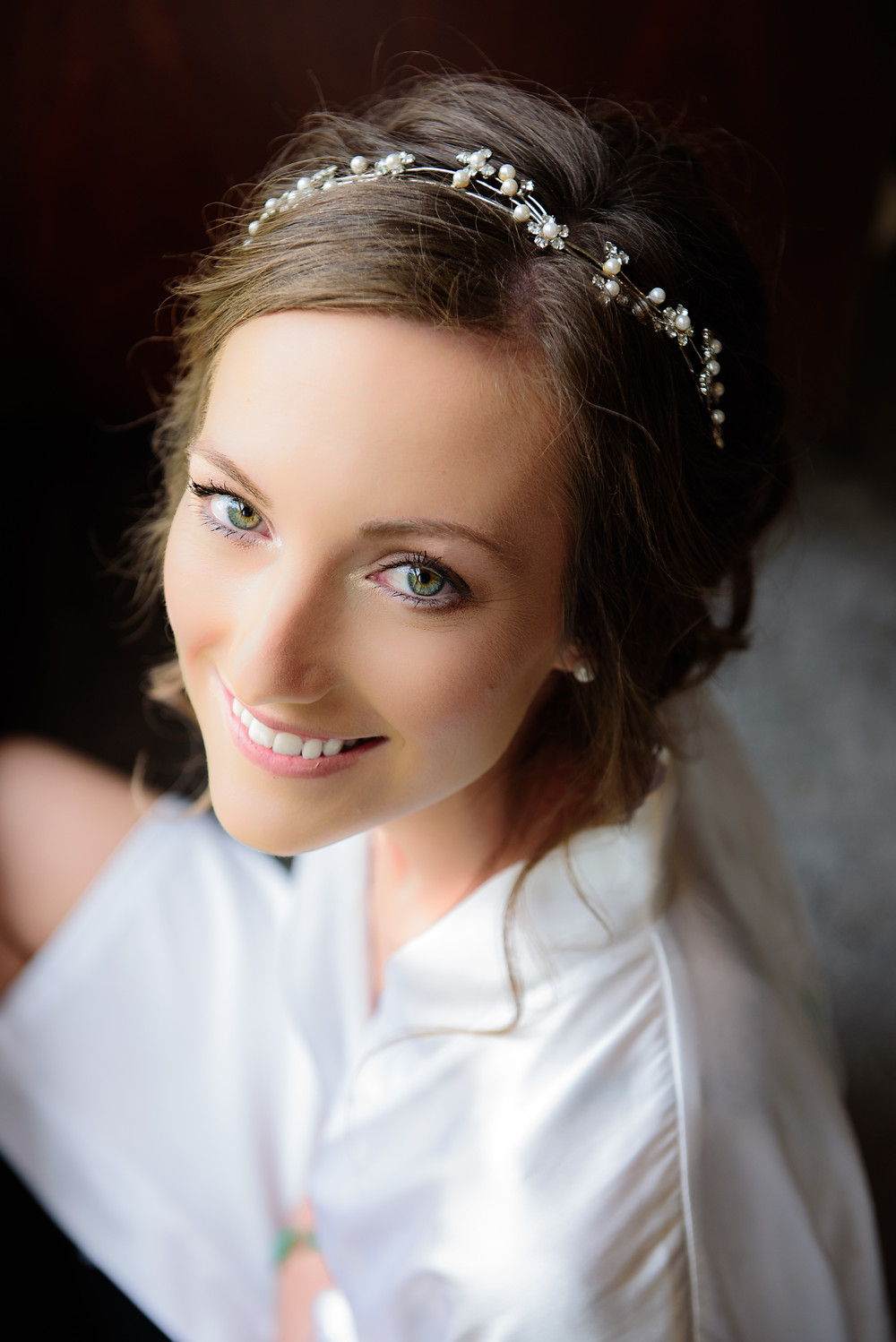 A portrait of the bride before the wedding.