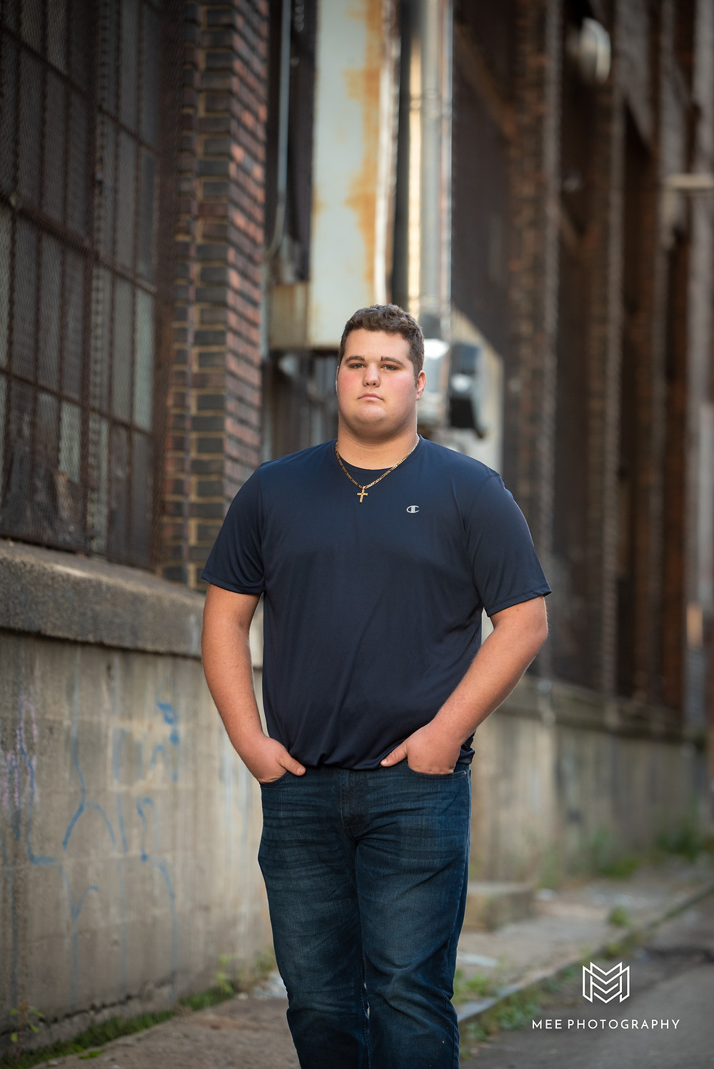 Urban male senior session in Pittsburgh
