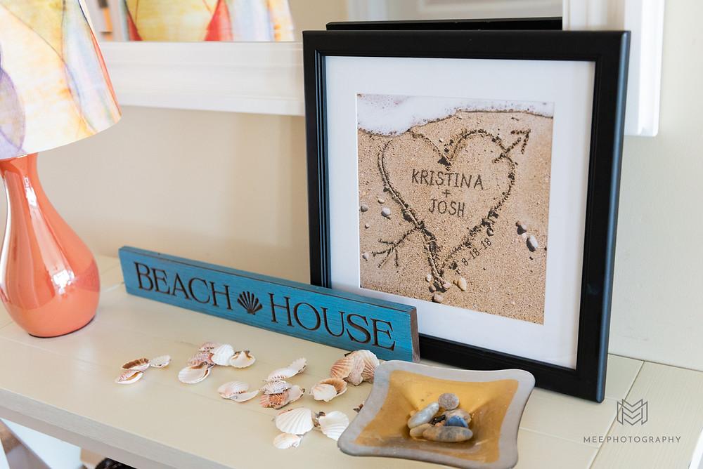 Beach house wedding details