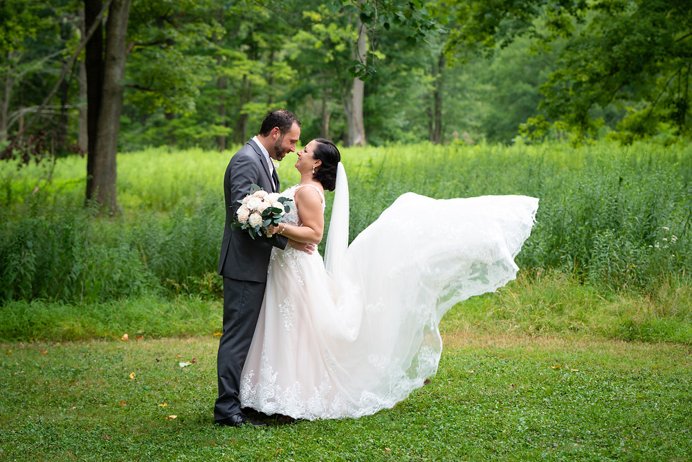 Pittsburgh wedding photographer; Bride and groom portraits at South Park