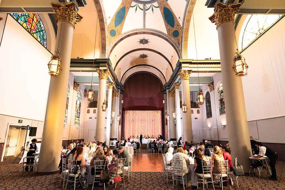 Wedding reception at The Priory in Pittsburgh