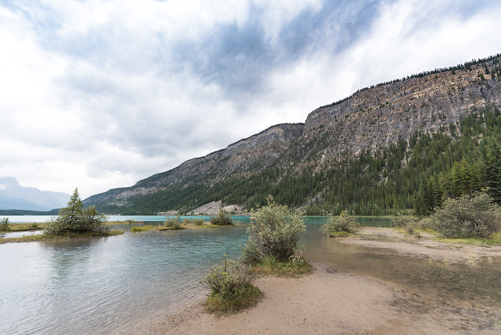 Waterfowl Lakes campground in Brittish Columbia, Canada