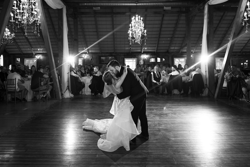 First dance as husband and wife at Chanteclaire Farm