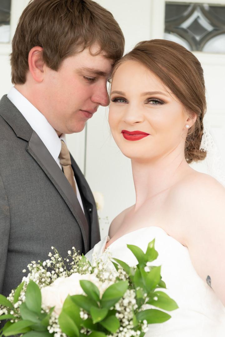 Newlyweds first portrait